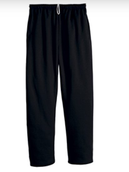 Nishime Youth JERZEES NUBLEND POCKETED OPEN BOTTOM SWEATPANT-Black