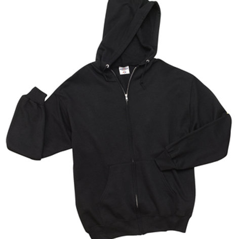 Nishime Adult JERZEES - NuBlend Full-Zip Hooded Sweatshirt-Black