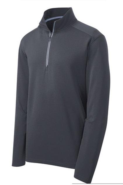 Men's Sport-Wick Textured 1/4-Zip Pullover - Gray