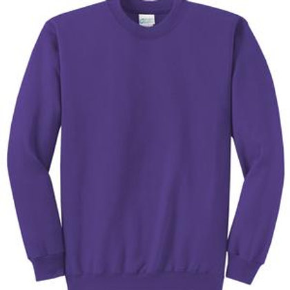 Lineshot Adult Crewneck Sweatshirt Purple