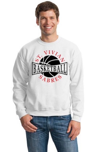 Basketball White Crew Sweatshirt