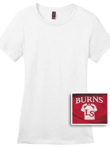 Ladies Short Sleeve T-Shirt 50/50 Blend - White