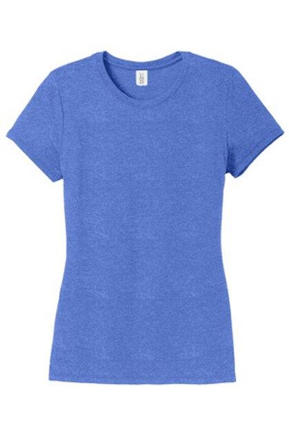 Ladies Perfect Tri® Crew Tee - Blue