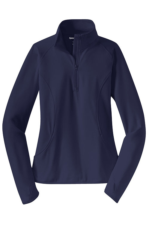 HCC_Ladies Long Sleeve Sport-Wick Stretch 1/2-Zip Pullover
