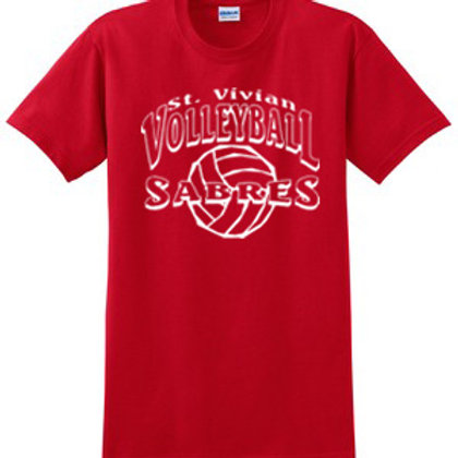 Volleyball Red Short Sleeve T-Shirt