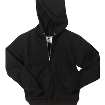 Nishime Youth JERZEES - NuBlend Full-Zip Hooded Sweatshirt-Black