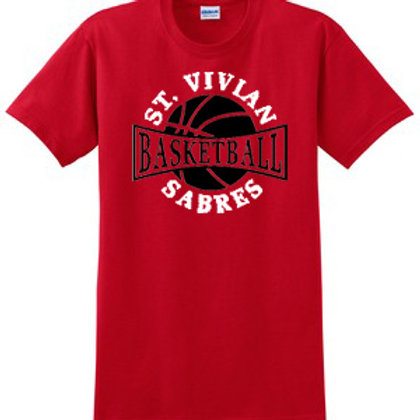 Basketball Red Short Sleeve T-Shirt