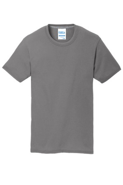 Left Front Chest Imprint Adult Performance Blend Tee - Gray
