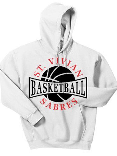 Basketball White Hoodie