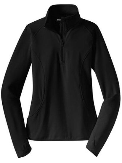 Ladies Sport-Wick Stretch 1/2-Zip Pullover - Black