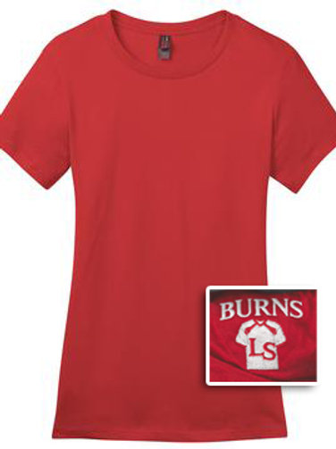 Ladies Short Sleeve T-Shirt 50/50 Blend - Red