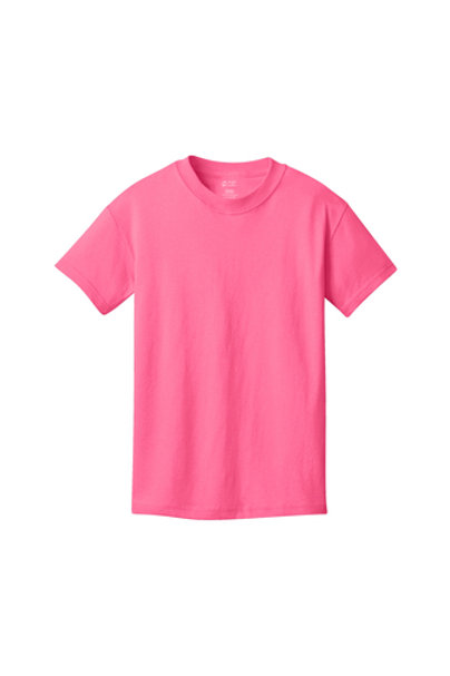 copy of Lineshot Youth Core Cotton Tee-Pink