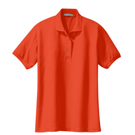 ES Orange Port Authority Women's Silk Touch™ Polo