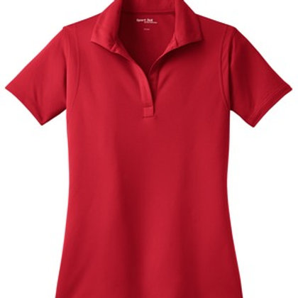 Ladies Micropique Sport-Wick Polo - Red
