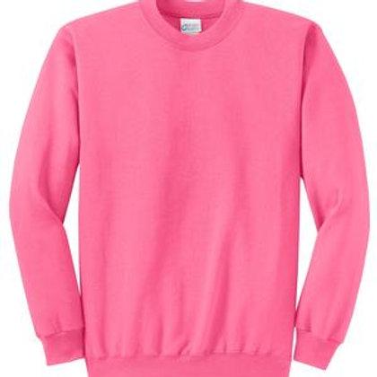 Lineshot Adult Crewneck Sweatshirt Pink