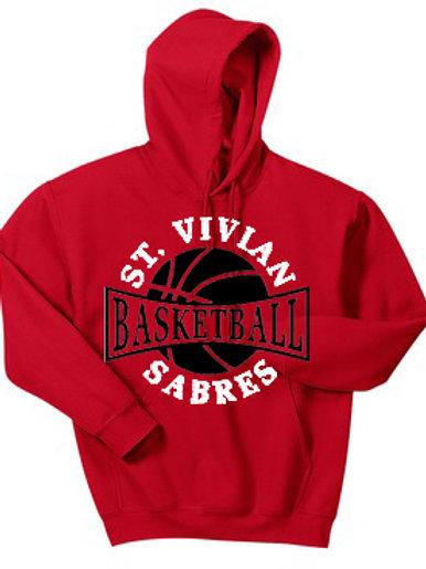 Basketball Red Hoodie