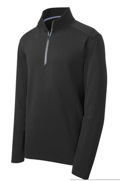 Men's Sport-Wick Textured 1/4-Zip Pullover - Black