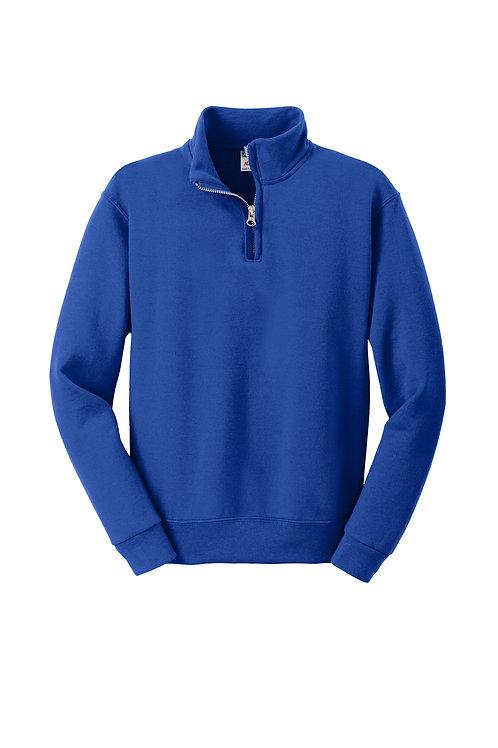 St. Joseph JERZEES Youth NuBlend 1/4-Zip Collar Sweatshirt-Royal Blue