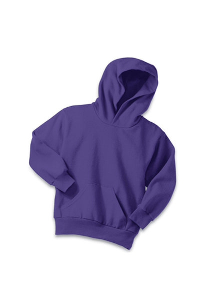 Lineshot Youth Core Fleece Pullover Hooded Sweatshirt-Purple