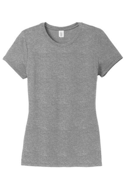 Ladies Perfect Tri® Crew Tee - Gray