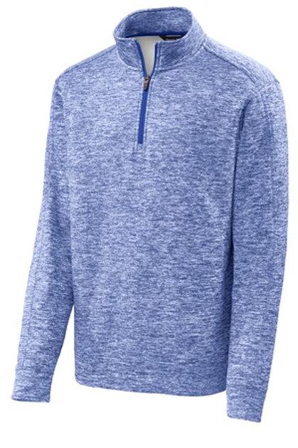 Men's Electric Heather Fleece 1/4-Zip Pullover - Blue