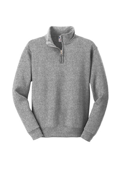 St. Joseph JERZEES Youth NuBlend 1/4-Zip Collar Sweatshirt-Gray