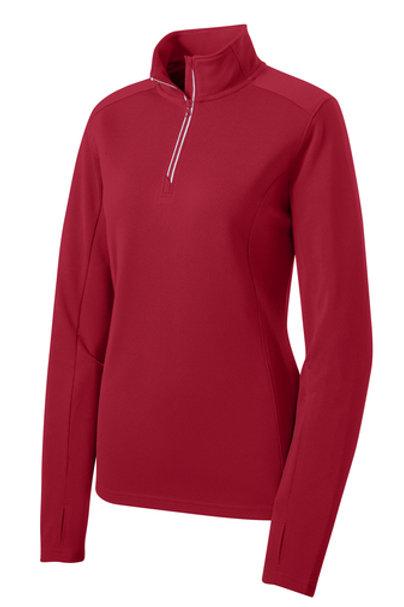 Ladies Sport-Wick® Textured 1/4-Zip Pullover