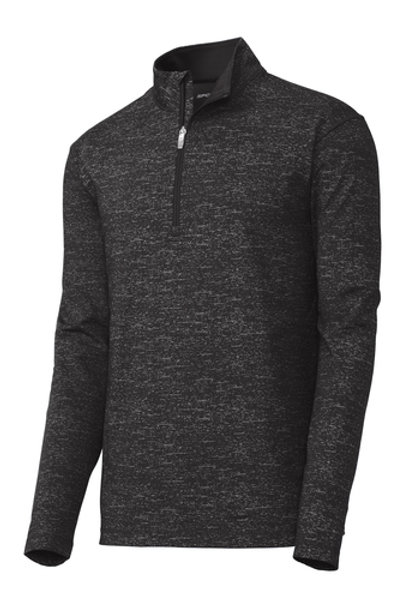 thyssenkrupp Men's Sport-Wick Stretch Reflective 1/2-Zip Pullover