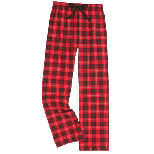 Adult Red and Black Flannel Pant