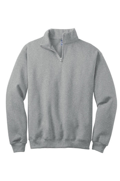 St. Joseph JERZEES - NuBlend 1/4-Zip Collar Sweatshirt-Gray