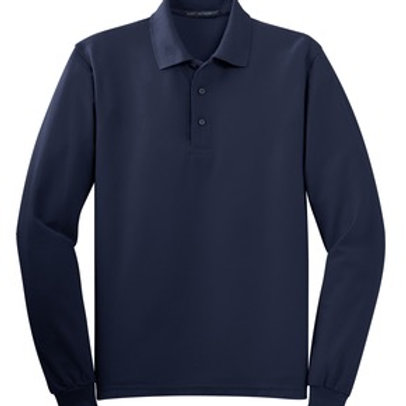 College Hill Mens Silk Touch™ Long Sleeve Polo