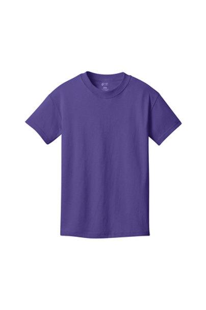 Lineshot Youth Core Cotton Tee-Purple