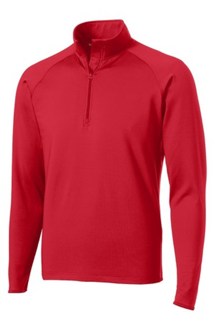 Men's Sport-Wick Stretch 1/2-Zip Pullover - Red