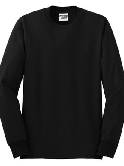 Nishime Adult JERZEES - Dri-Power Active 50/50 Long Sleeve-Black