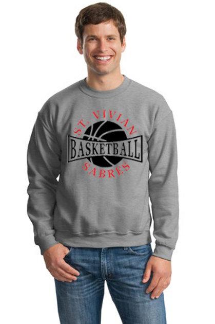 Basketball Gray Crew Sweatshirt