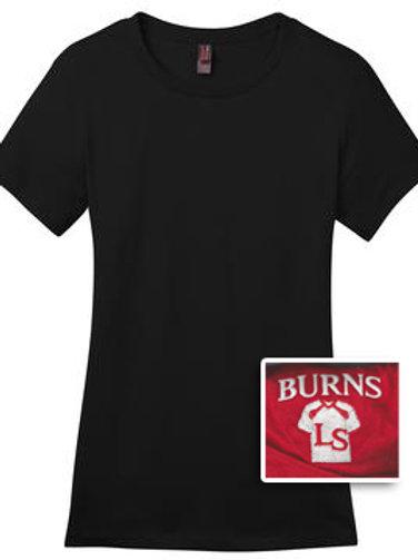 Ladies Short Sleeve T-Shirt 50/50 Blend - Black