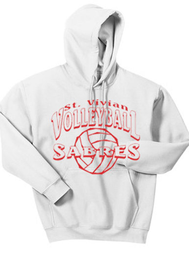 Volleyball White Hoodie