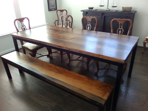 Industrial Reclaimed Wood Dining Table - Cheap reclaimed wood dining table