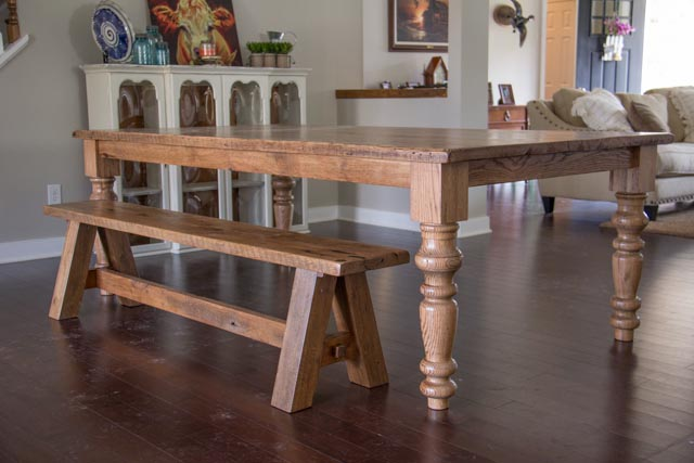 Custom Farmhouse Turned Legs