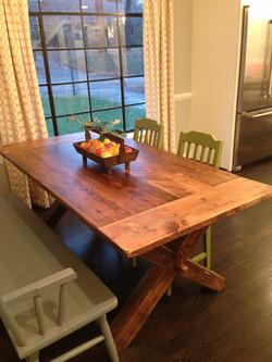 Cross Leg Trestle Table