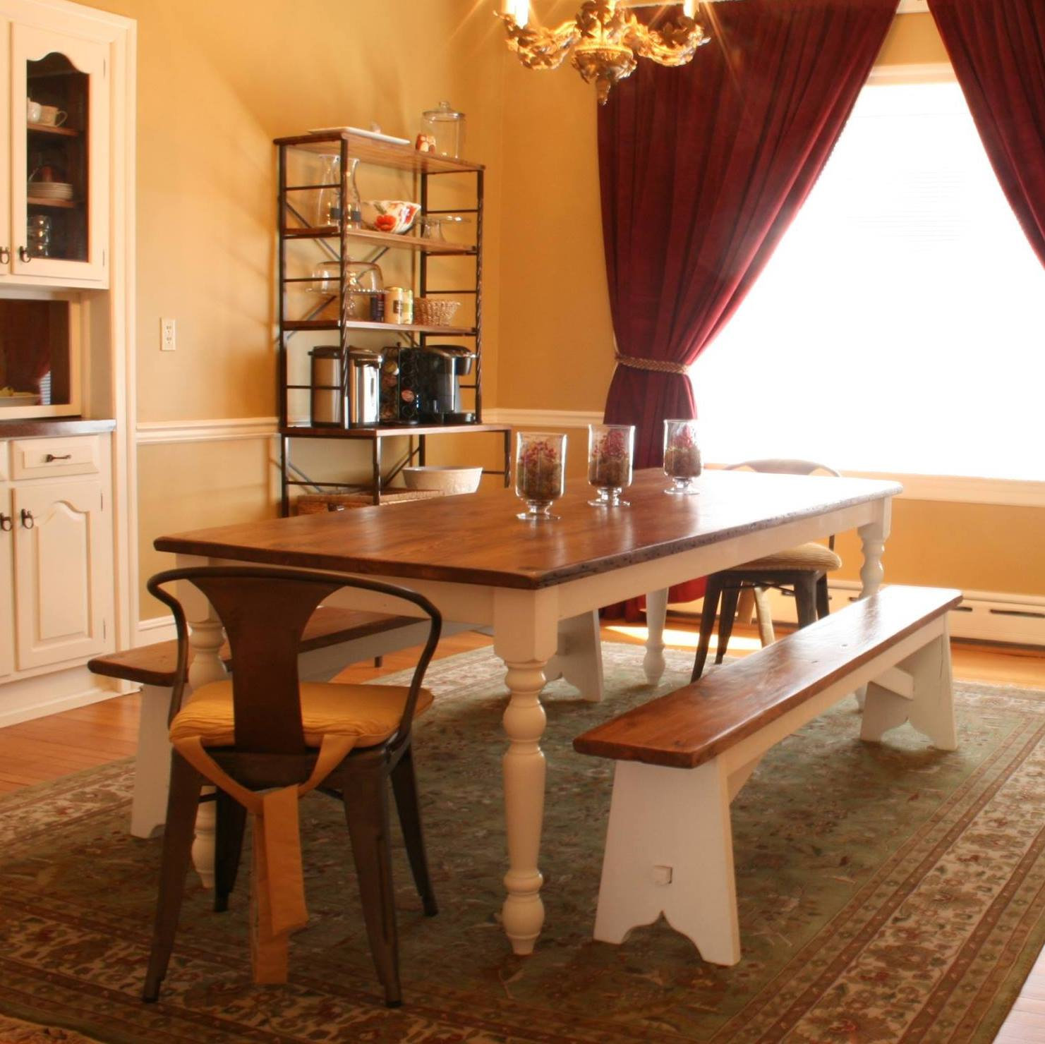 Virginia Farmhouse Reclaimed Wood Dining Table | Concepts Created LLC