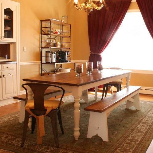 Virginia Farmhouse Reclaimed Wood Dining Table