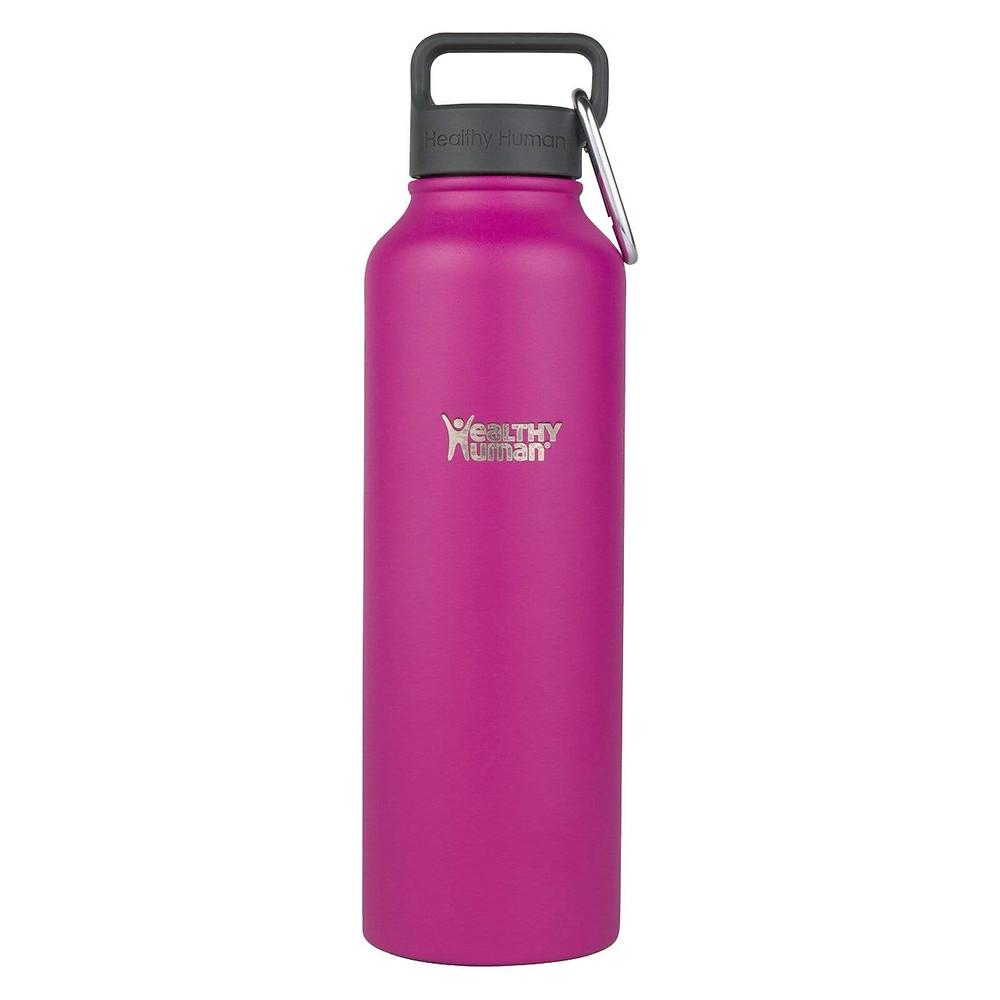 healthy human stainless steel water bottle, magenta, purple travel bottle