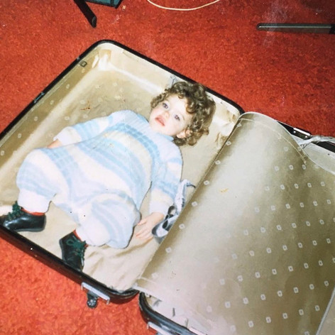 Always living out of a suitcase.