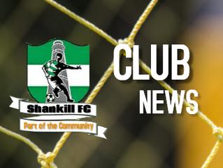 Summary of Shankill FC activities during 2019 calendar year