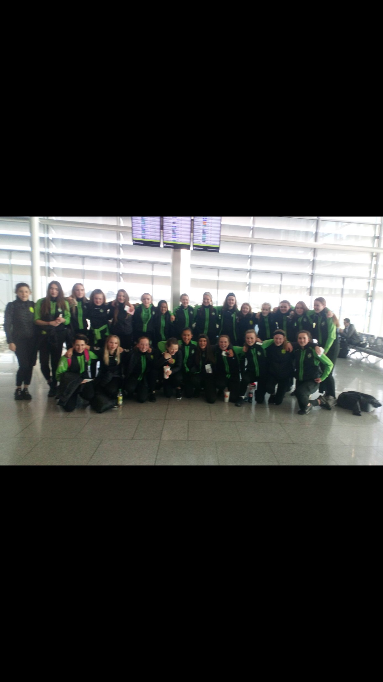 Girls U15 Dublin Airport..