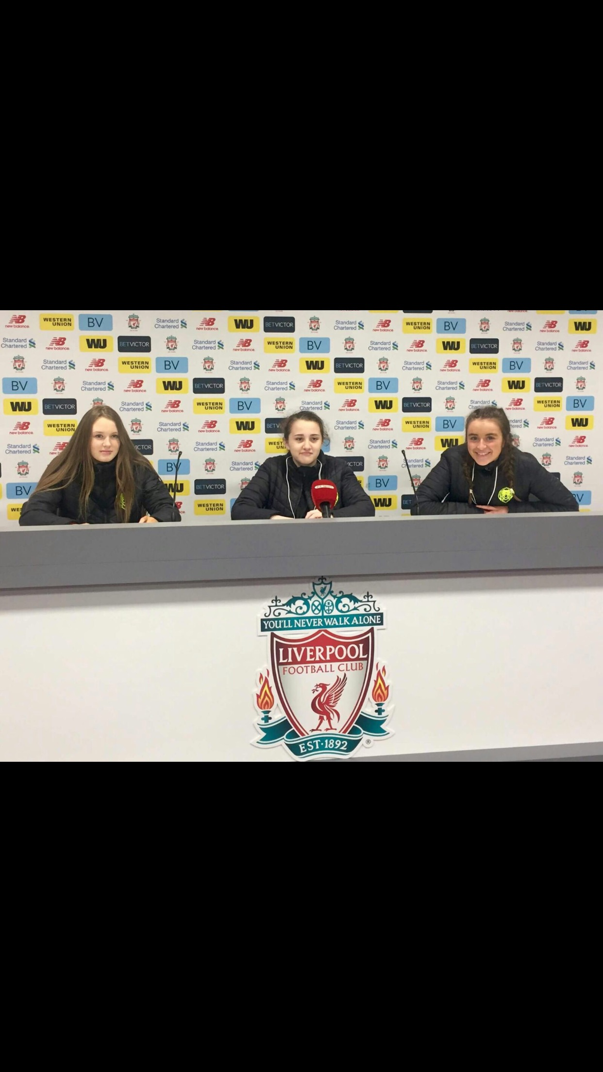 Girls U15 Liverpool Press Room..
