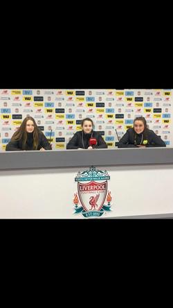 Girls U15 Liverpool Press Room..
