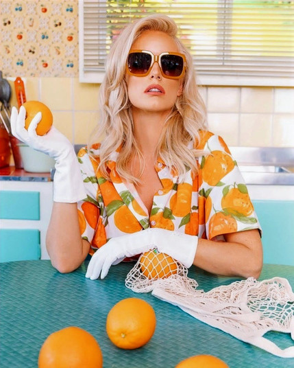Company: Reality Eyewear Photographer: Jess Wharehinga  Model: Kelly Holmes Make-up: Bridget Ioannou Hair: Lemon Laine Collective Location: Mid-Century Cafe, Yokine, Western Australia