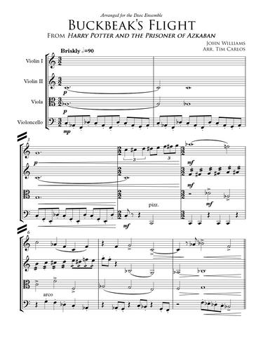 Buckbeak's Flight for String Quartet